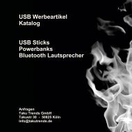 Werbeartikel USB Stick Powerbanks Katalog