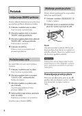 Sony CDX-GT564UI - CDX-GT564UI Mode d'emploi Serbe - Page 4