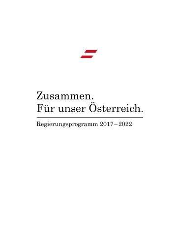 FPÖ-ÖVP Regierungsprogramm 2017-2022