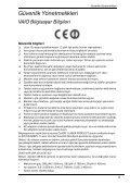 Sony VPCZ11E7E - VPCZ11E7E Documents de garantie Turc - Page 5