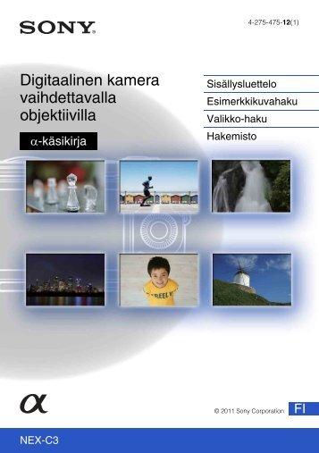Sony NEX-C3D - NEX-C3D Consignes d'utilisation Finlandais