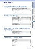 Sony NEX-C3D - NEX-C3D Consignes d'utilisation Polonais - Page 3