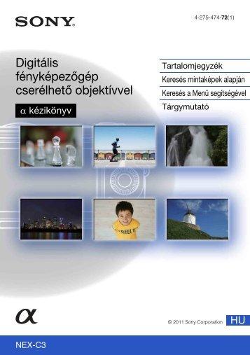 Sony NEX-C3D - NEX-C3D Consignes d'utilisation Hongrois