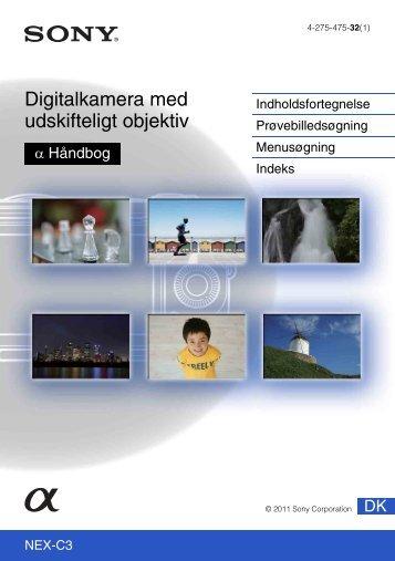 Sony NEX-C3D - NEX-C3D Consignes d'utilisation Danois
