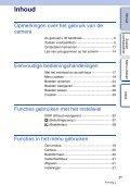 Sony NEX-C3D - NEX-C3D Consignes d'utilisation Néerlandais - Page 3