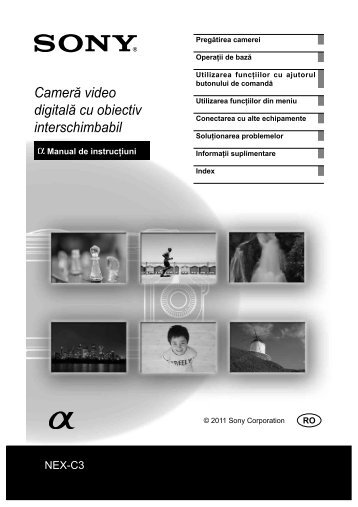 Sony NEX-C3D - NEX-C3D Mode d'emploi Roumain