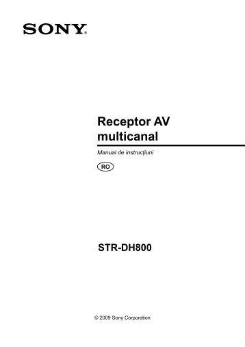 Sony STR-DH800 - STR-DH800 Mode d'emploi Roumain