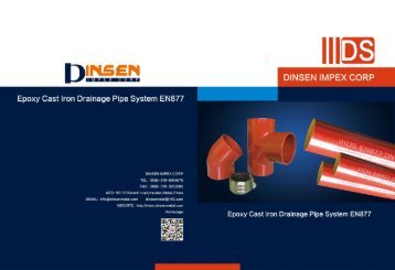 Dinsen EN877 epoxy cast iron pipe fittings catalog