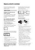 Sony DCR-SR190E - DCR-SR190E Mode d'emploi Slovénien - Page 2