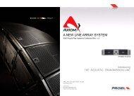 A NEW LINE ARRAY SYSTEM - Proel