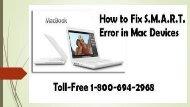 Toll-Free 1-800-694-2968 How to Fix S.M.A.R.T Error in Mac Devices
