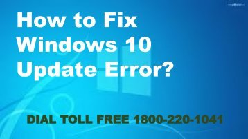 How to Fix Windows 10 Update Error 18002201041