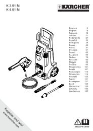 Karcher K 4.91 M+ - manuals
