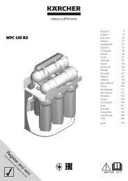 Karcher WPC 100 RO - manuals