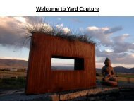 Welcome to Yard Couture