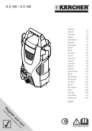 Karcher K 2.100 - manuals