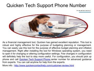 Quicken Tech Support Phone Number