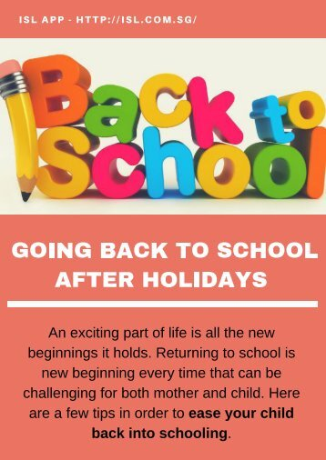 Going Back to School after Holidays - ISL App