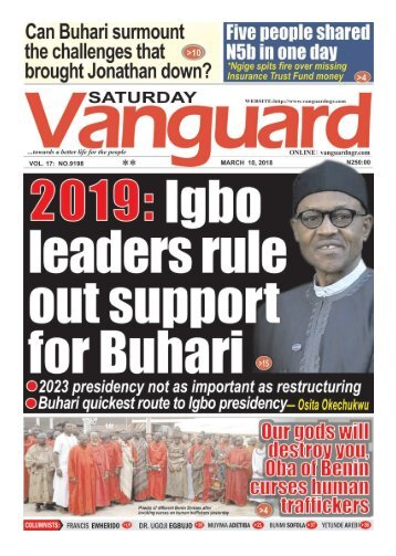 10032018 - 2019: Igbo leaders rule out support for Buhari
