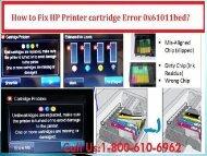 Fix HP Printer Cartridge Error 0x61011bed