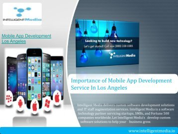 Importance of Mobile App Development Service in Los Angeles