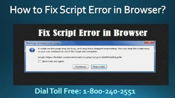 18002402551 How to Fix Script Error in Browser