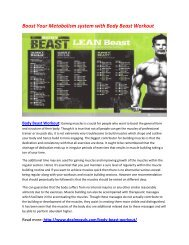 Enhance Your Endurance Power with Body Beast Workout