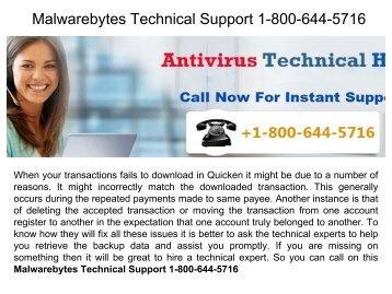 Malwarebytes Technical Support 1-800-644-5716