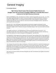 High Fashion World Inspires New Exclusive Digital Camera Line ...
