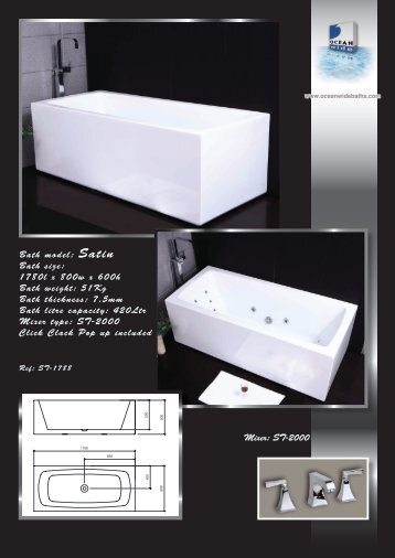 Free Standing Product Catalogue 2012 - OceanWideBaths.com