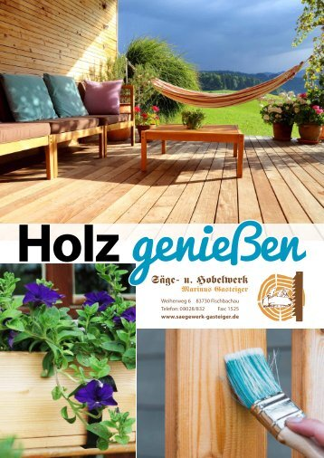 Sägewerk Gasteiger Hauskatalog 2018
