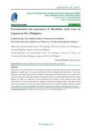 Environmental risk assessment of Macabalan creek water in Cagayan de Oro, Philippines