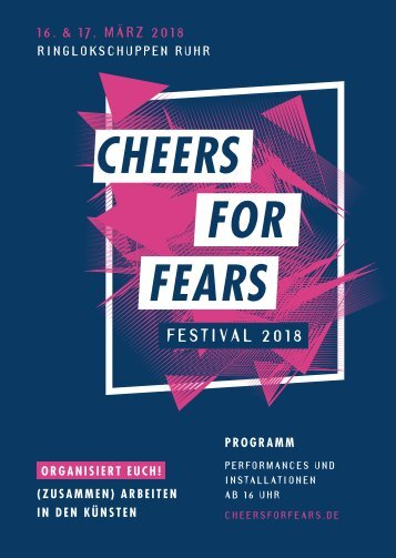Cheers for Fears Festival 2018 - Programm