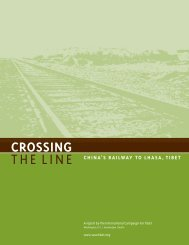 Crossing the Line: China's Railway to Lhasa, Tibet - International ...