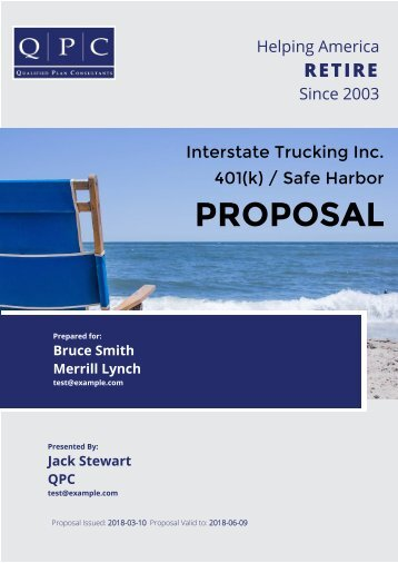 Interstate Trucking Inc. Proposal