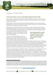 Press Release - Homes England putting targets ahead of safty