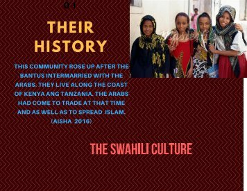 the swahili culture