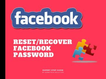 How To Reset or Recover Facebook Password - 2018 | You Can't Miss!!!