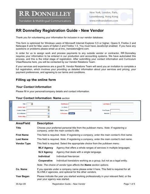 RR Donnelley Registration Guide