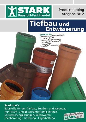 """2018 STARK: Katalog """"Tiefbau und Entwässerung"""""""