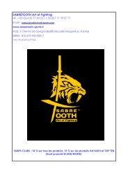 catalogue sabretooth karaté+yoseikan budo saison 2017-2018