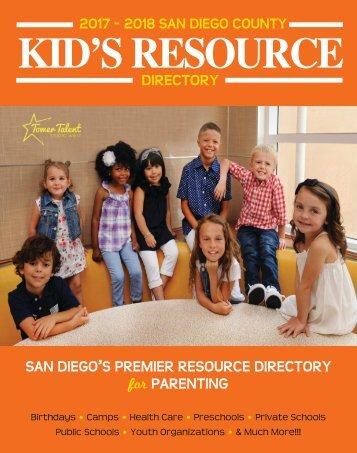 2017-2018 San Diego Kids Resource Directory