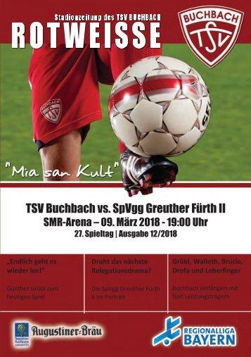 Stadionzeitung TSV Buchbach - SpVgg Greuther Fürth II