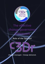 The role of the Sponsor in c3Dr