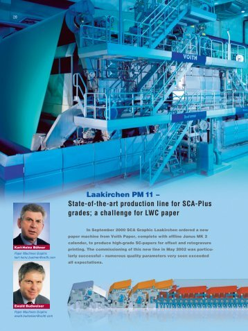 State-of-the-art production line for SCA-Plus grades - Voith