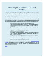 How can you Troubleshoot a Xerox Printer?