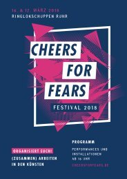 Cheers for Fears Festival 2018 - Programmheft