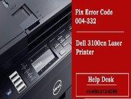 Fix Dell Laser Printer Error Code 004-332