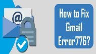 1-800-243-0019 | Fix Gmail Error 776