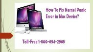 Toll-Free 1-800-694-2968 How To Fix Kernel Panic Error in Mac Device
